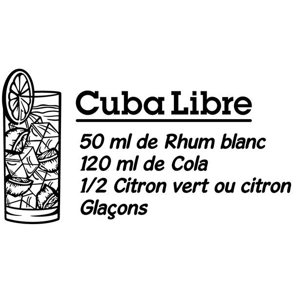 Wall Stickers: Cocktail Cuba Libre - french