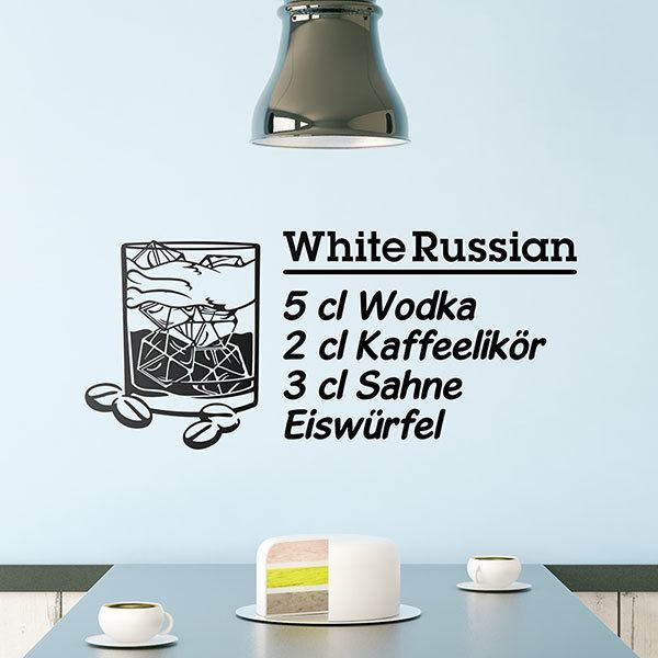 Wall Stickers: Cocktail White Russian - german