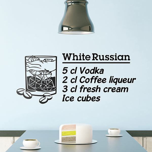 Wall Stickers: Cocktail White Russian - english 0
