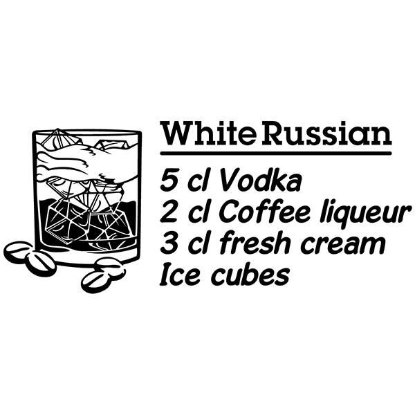 Wall Stickers: Cocktail White Russian - english