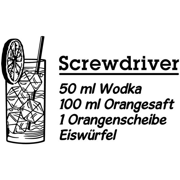 Wall Stickers: Cocktail Screwdriver - german