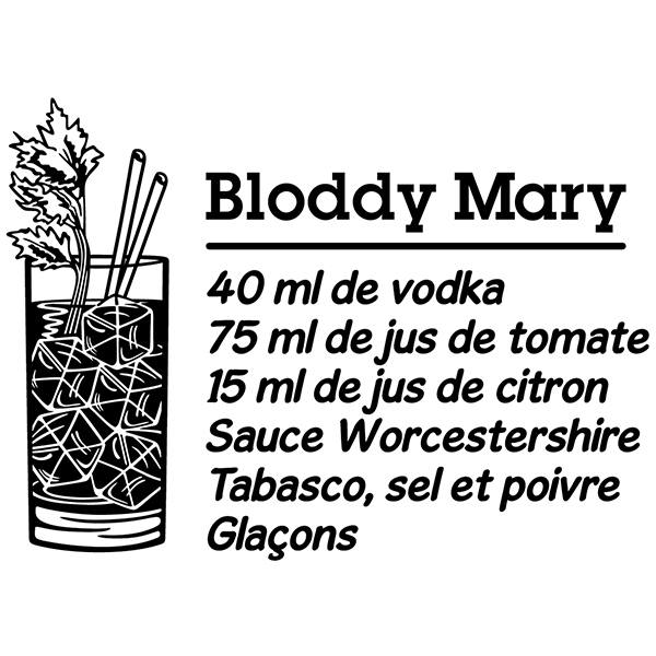 Wall Stickers: Cocktail Bloddy Mary - french