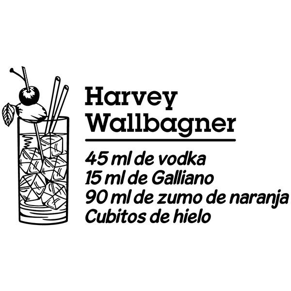 Wall Stickers: Cocktail Harvey Wallbagner - spanish