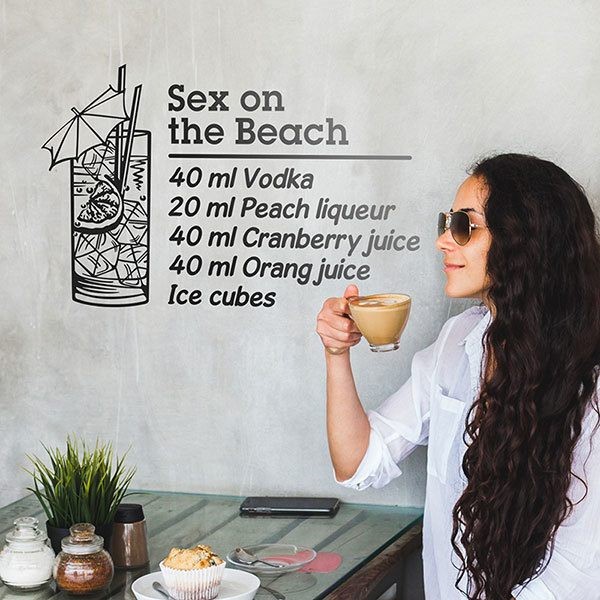 Wall Stickers: Cocktail Sex on the Beach - english