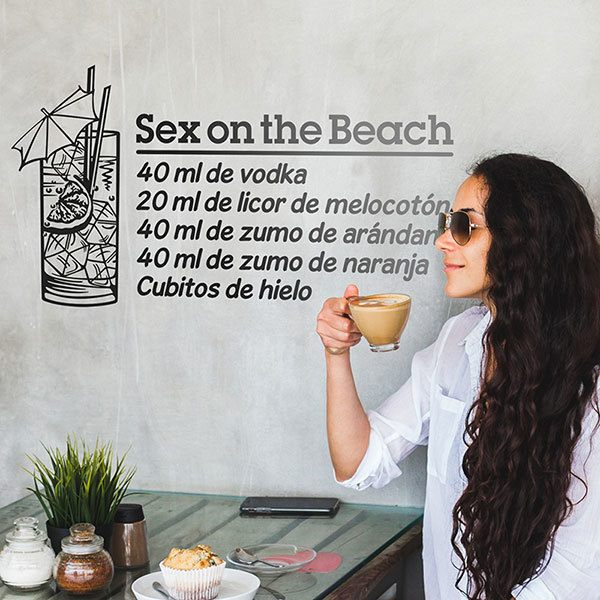 Wall Stickers: Cocktail Sex on the Beach - spanish 0