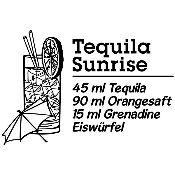 Wall Stickers: Cocktail Tequila Sunrise - german