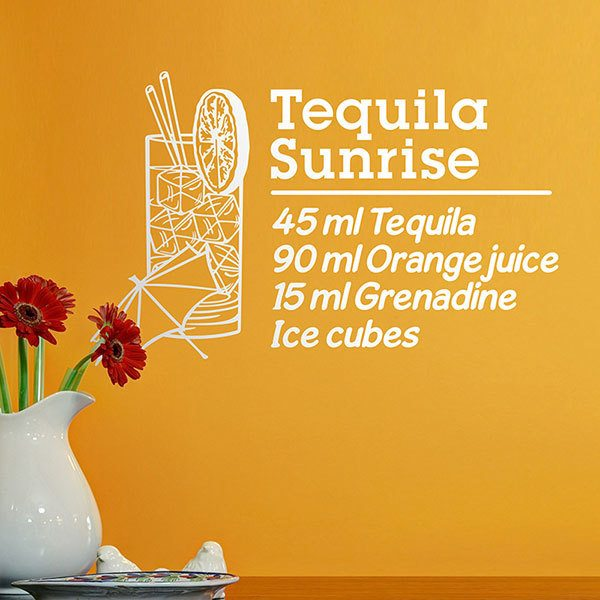 Wall Stickers: Cocktail Tequila Sunrise - english
