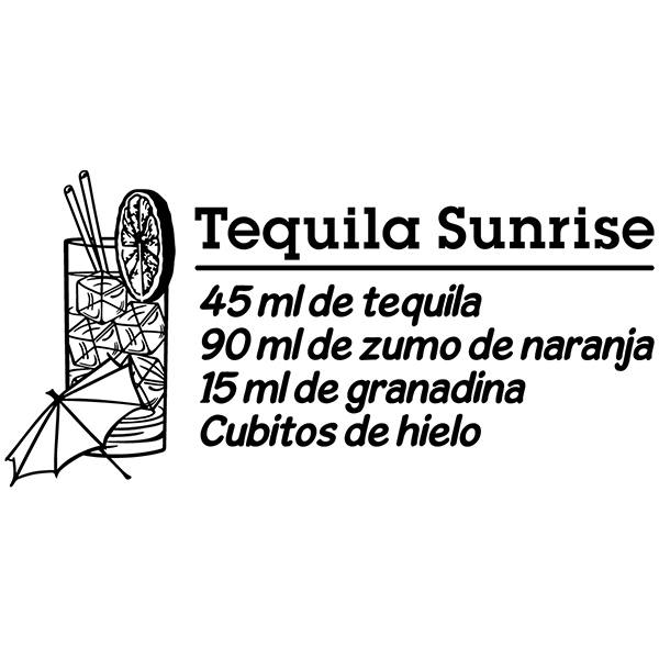 Wall Stickers: Cocktail Tequila Sunrise - spanish