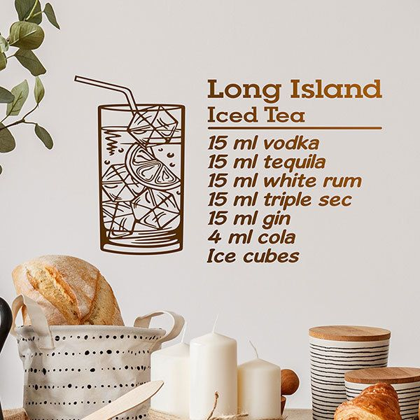 Wall Stickers: Cocktail Long Island - english