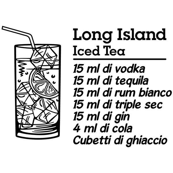 Wall Stickers: Cocktail Long Island - italian