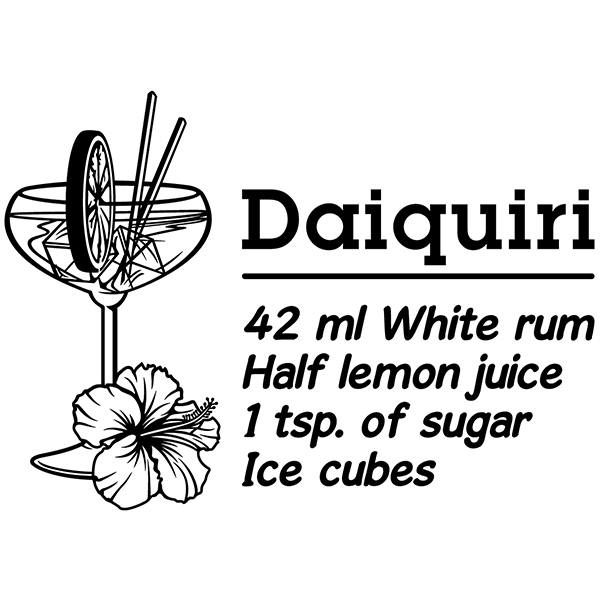 Wall Stickers: Cocktail Daiquiri - english