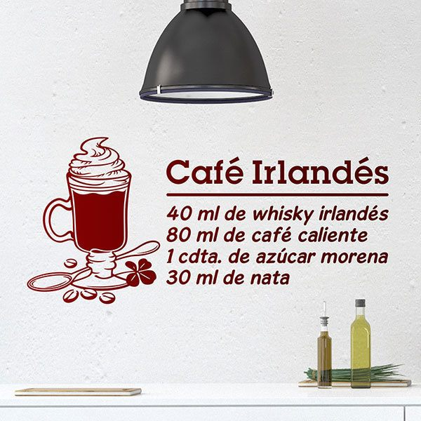 Wall Stickers: Cocktail Irish Coffee - spanish