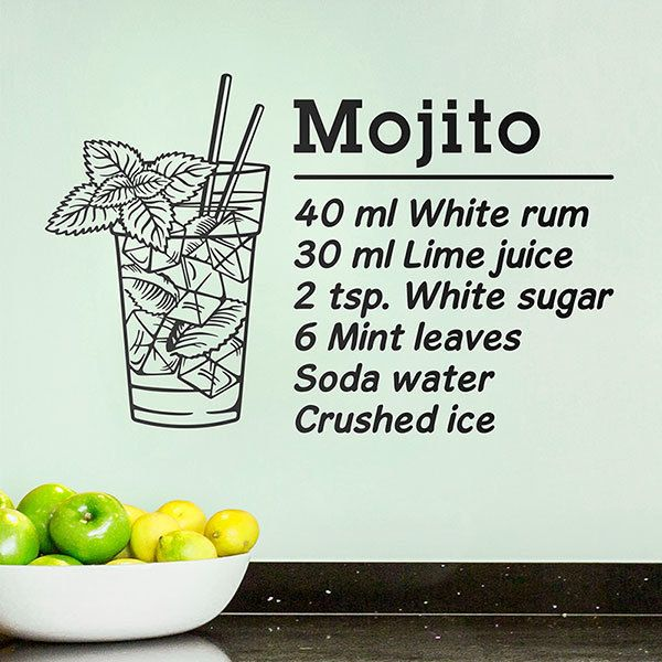 Wall Stickers: Cocktail Mojito - english