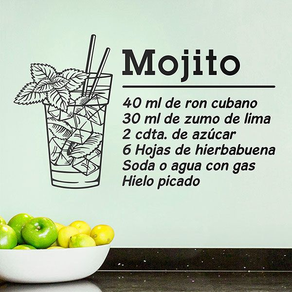 Wall Stickers: Cocktail Mojito - spanish