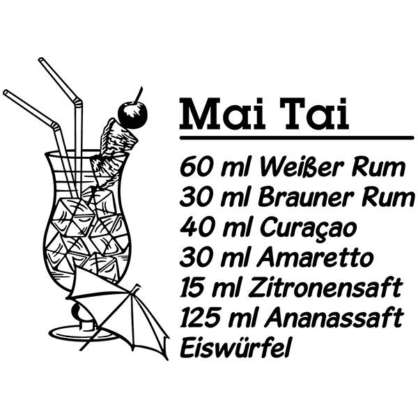 Wall Stickers: Cocktail Mai Tai - german