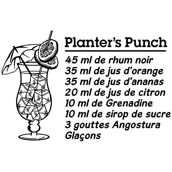 Wall Stickers: Cocktail Planter's Punch - french