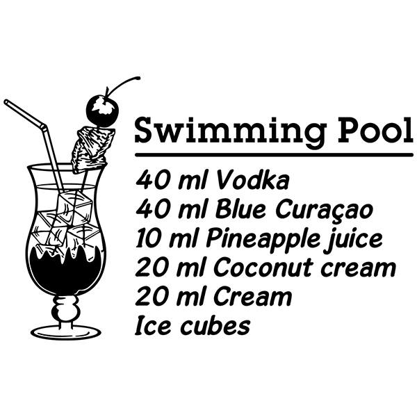 Wall Stickers: Cocktail Swimming Pool - english