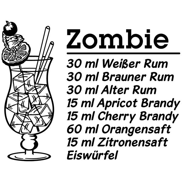 Wall Stickers: Cocktail Zombie - german
