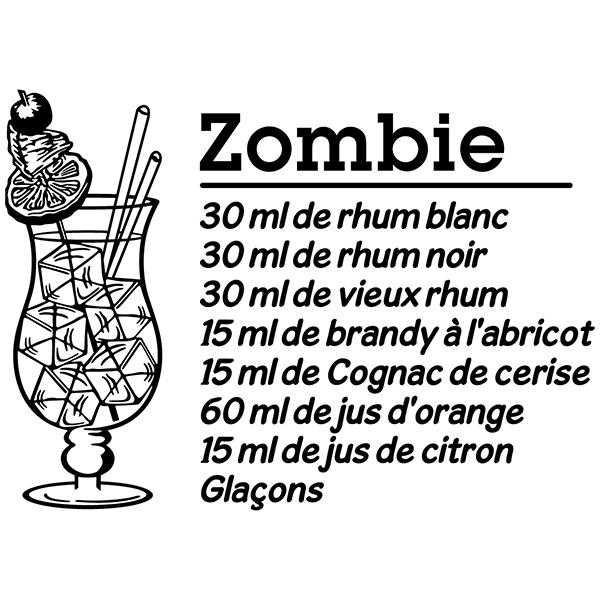 Wall Stickers: Cocktail Zombie - french