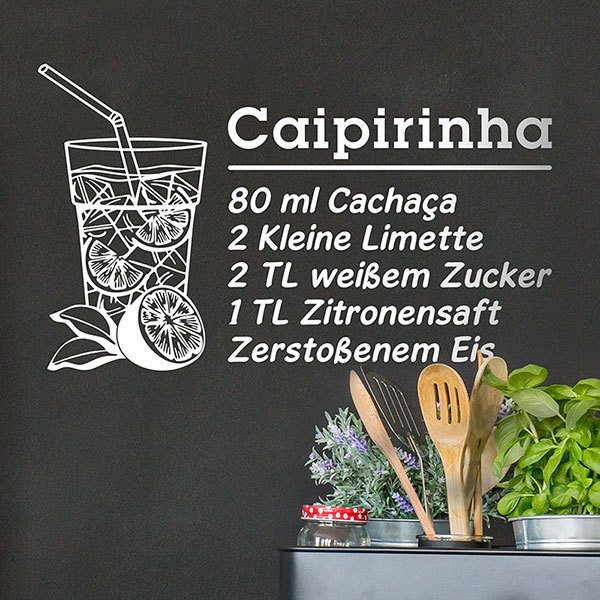 Wall Stickers: Cocktail Caipirinha - german