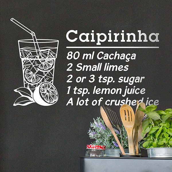 Wall Stickers: Cocktail Caipirinha - english