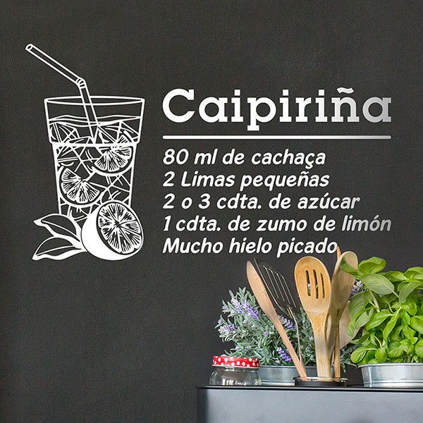 Wall Stickers: Cocktail Caipirinha - spanish