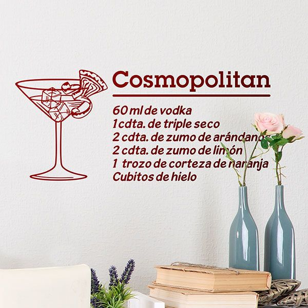 Wall Stickers: Cocktail Cosmopolitan - spanish