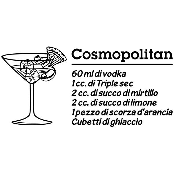 Wall Stickers: Cocktail Cosmopolitan - italian