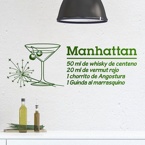 Wall Stickers: Cocktail Manhattan - spanish