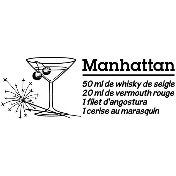 Wall Stickers: Cocktail Manhattan - french