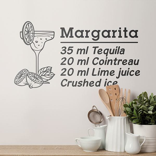 Wall Stickers: Cocktail Margarita - english
