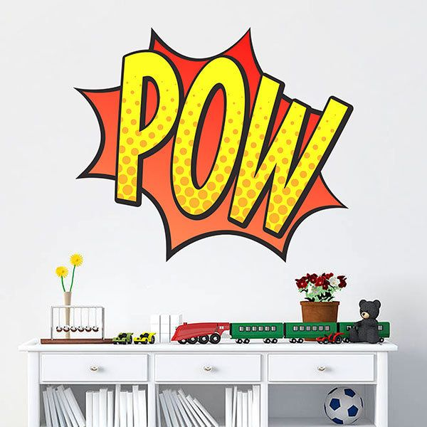 Wall Stickers: Comic Pow yellow