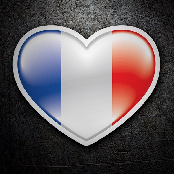 Car & Motorbike Stickers: Heart France