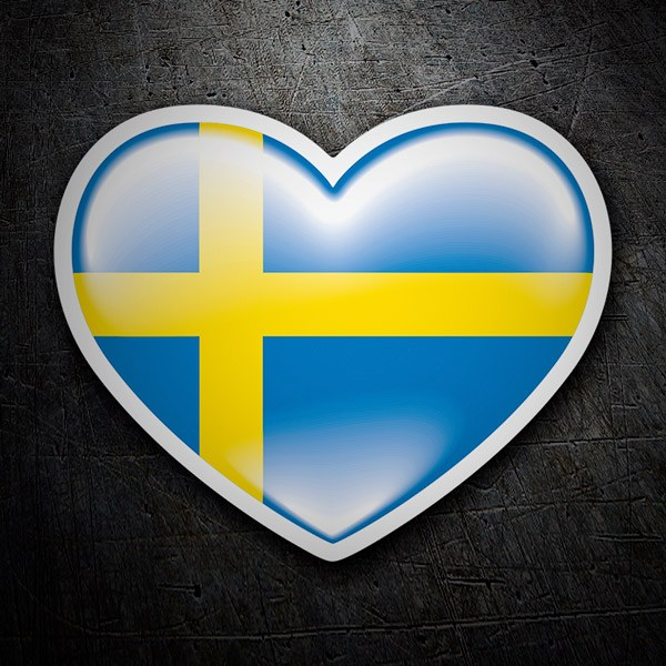 Car & Motorbike Stickers: Heart of Sweden