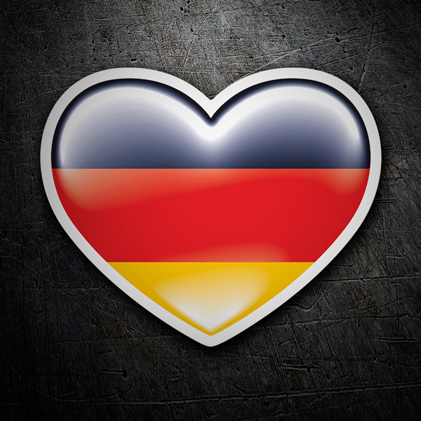 Car & Motorbike Stickers: Heart Germany