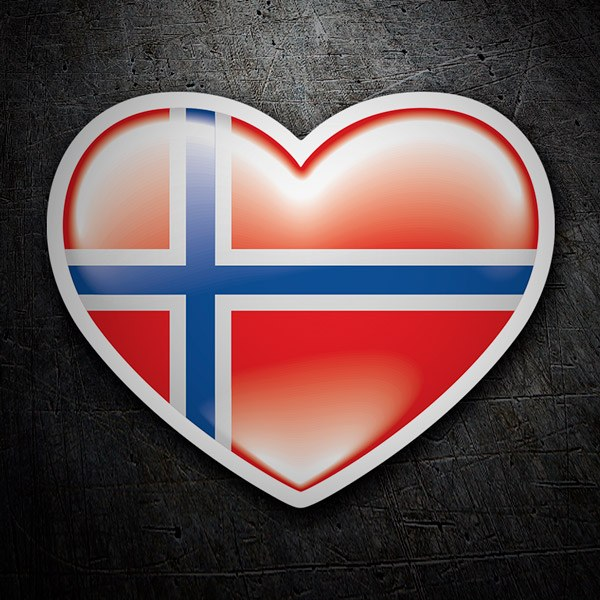 Car & Motorbike Stickers: Norway