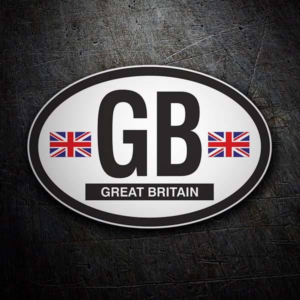 Car & Motorbike Stickers: Oval Great Britain GB