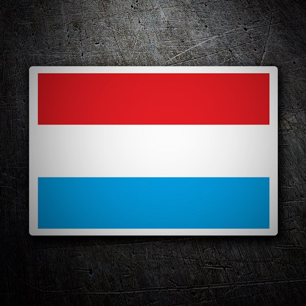 Car & Motorbike Stickers: Luxembourg