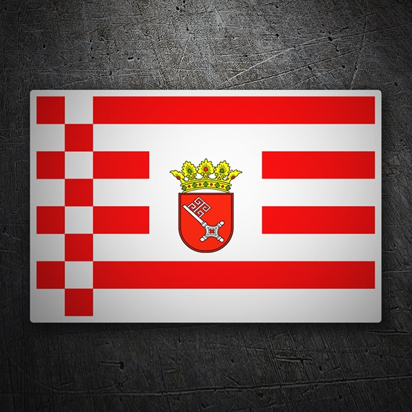 Car & Motorbike Stickers: Flag Bremen