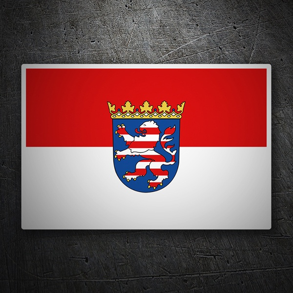 Car & Motorbike Stickers: Flag Hesse