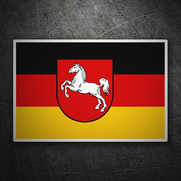 Car & Motorbike Stickers: Flag Lower Saxony