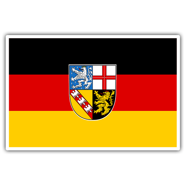 Car & Motorbike Stickers: Flag Saarland