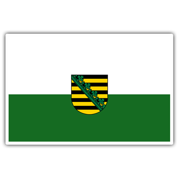 Car & Motorbike Stickers: Flag Saxony