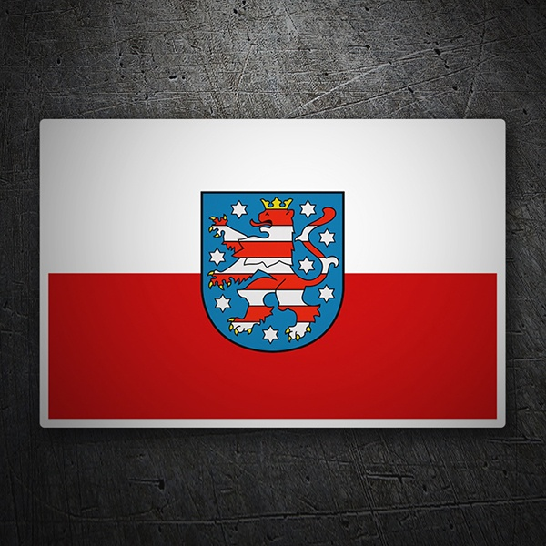 Car & Motorbike Stickers: Flag Thuringia