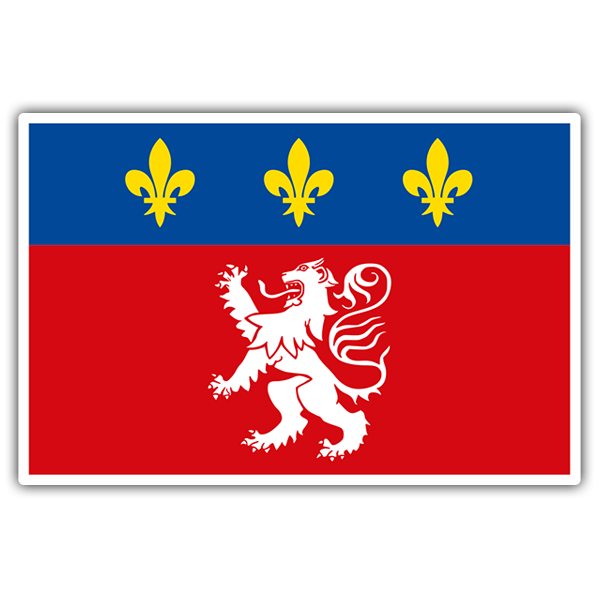 Car & Motorbike Stickers: Flag Lyonnais