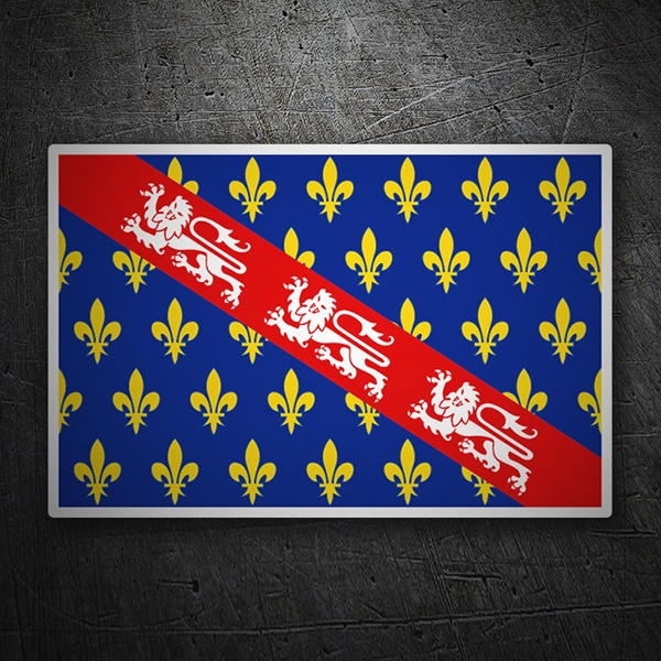 Car & Motorbike Stickers: Flag Marche