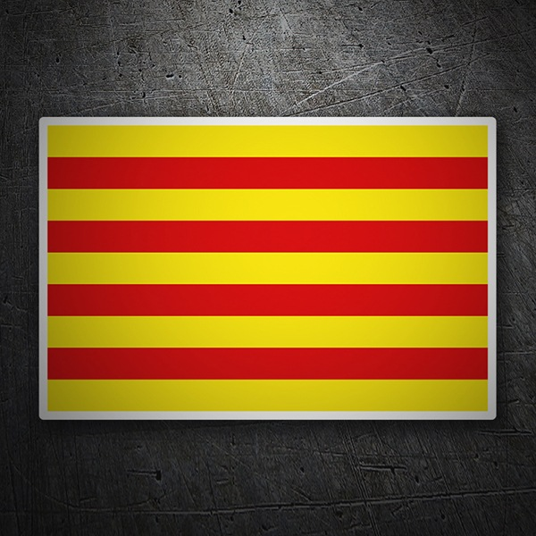 Car & Motorbike Stickers: Flag Roussillon