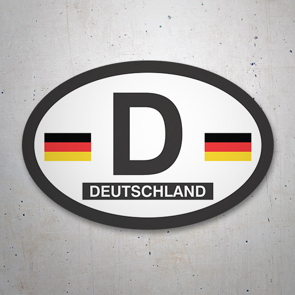 Car & Motorbike Stickers: Germany Oval