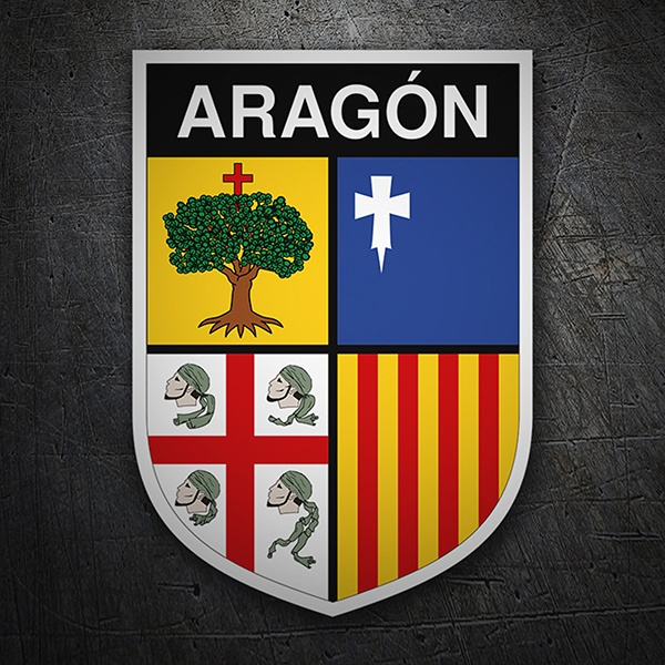 Car & Motorbike Stickers: Badge Aragon