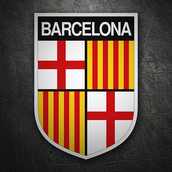 Car & Motorbike Stickers: Badge Barcelona